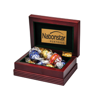 Small Wood Box with 6 Assorted Lindt® Chocolates