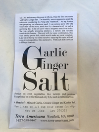 Garlic Ginger Salt