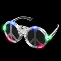 LED Peace Sign Sunglasses - Multicolor