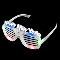 LED New Year Shutter Slotted Shades