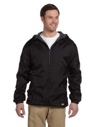 Dickies® Men's Fleece-Lined Hooded Nylon Jacket