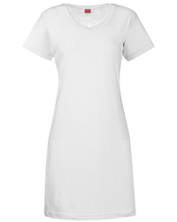 LAT® Ladies' V-Neck Fine Jersey Coverup