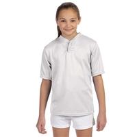 Augusta Sportswear® Youth Wicking Two-Button Jersey