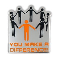You Make A Difference Lapel Pin