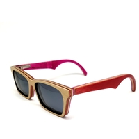 Skateboard/Wood Sunglasses Recycled/ Made in USA