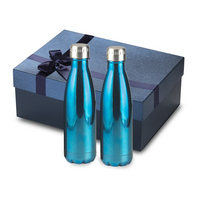 2pc 16 oz Electroplated Serendipity Bottles Gift Set