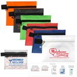 8 Piece Hand Sanitizer First Aid Kit in Zipper Pouch