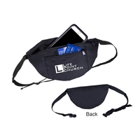 600D Two Pocket Fanny Pack with Adjustable Waist Belt