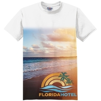 3/4 Fade Sublimation on Front Side T-Shirt (4 Shirt Options)