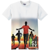 3/4 Fade Sublimation on Both Sides T-Shirt (4 Shirt Options)