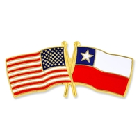 World Flag - USA & Chile Flag Pin