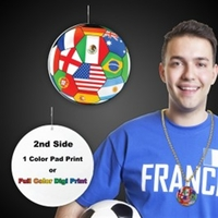 "International Flag Medallions - 2 1/2"""