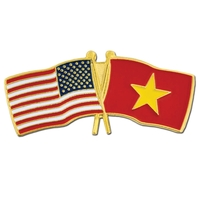 Cross Flag - USA & Vietnam Flag Pin