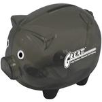 "5""x4"" Black Piggy Bank"
