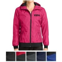Sport-Tek Ladies' Embossed Hooded Wind Jacket