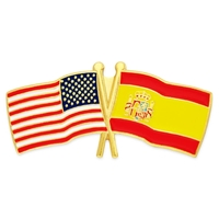 USA / Spain- Friendship Flag Lapel Pin