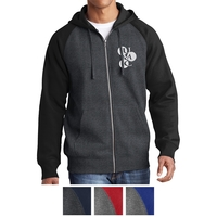 Sport-Tek Raglan Colorblock Full-Zip Hooded Fleece Jacket
