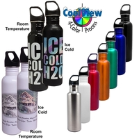 26oz CoolView Imprint Stainless Water Bottle, four color
