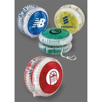 Vibra-Color Translucent Lighted Yo-Yo with Flashing Red LEDs