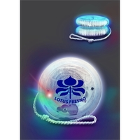Crystal Clear Lighted Yo-Yo with Flashing Multicolor LEDs