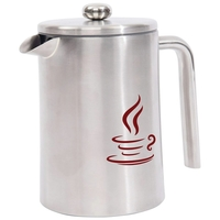 1.2L (40.5oz) Double Wall Stainless Steel (304) French Press