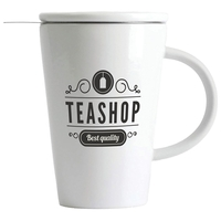13.5oz (400 ml) Porcelain Tea Steeping Mug