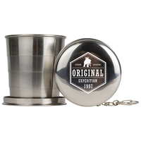 4.75oz Stainless Steel Collapsible Cup w/Keychain