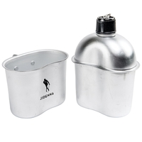 32oz Aluminum Canteen with Cover and Cup