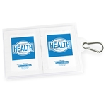 GoPac with Hand Sanitizer Wipes, w/ Carabiner, Label Imprint