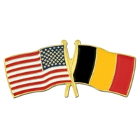 USA / Belgium- Friendship Flag Lapel Pin