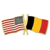 USA / Belgium- Friendship Flag Lapel Pin