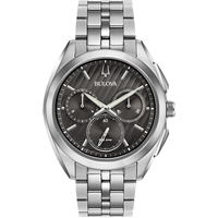 Bulova Men's Chronograph CURV Stainless Steel Bracelet Watch