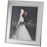 Wedgewood/Waterford Grosgrain Silver 8x10 Frame