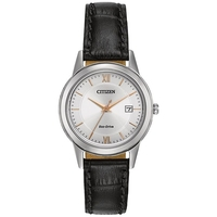 Citizen Ladies' Eco-Drive With Black Leather Strap