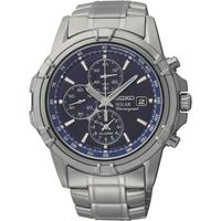 Seiko Men's Solar Alarm Chronograph Watch