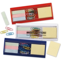 Ruler, Paper Clips, Sticky Flag and Pad Set