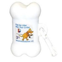 Pet Trash Bag Dispenser - Bone