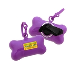 Bling Pet Bone Bag Dispenser - Full Color Imprint