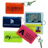 Pass Case Key Rings in Bright Translucent Vinyl