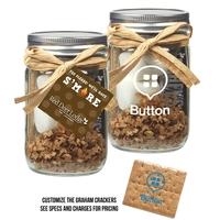 S'Mores Kit In Mason Jar
