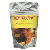 Resealable Clear Pouch With Fruit Berry Mix