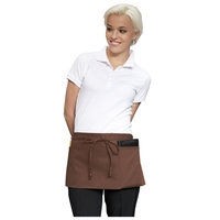 "23"" W x 11"" L - Three-Pocket Waist Apron - Brown"