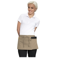 "23"" W x 11"" L - Three-Pocket Waist Apron - Khaki"