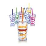 16 oz. Slurpy Acrylic Tumbler w/crazy straw
