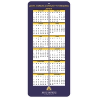 Year On-A-Page Calendar Card