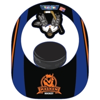 Hockey Puck and Goalie Popup Visor