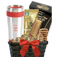 Coffee & Cookie Basket with Travel Tumbler