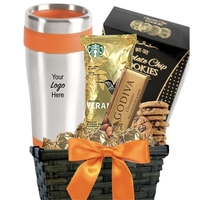 Fall Coffee & Cookie Basket with Travel Tumbler