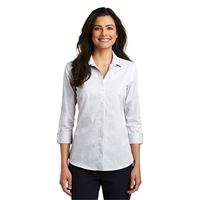 Port Authority Ladies 3/4-Sleeve Micro Tattersall Easy Ca...