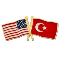 Cross Flag - USA & Turkey Flag Pin